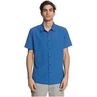 Quiksilver Tech Tides Short Sleeve Shirt in Classic Blue
