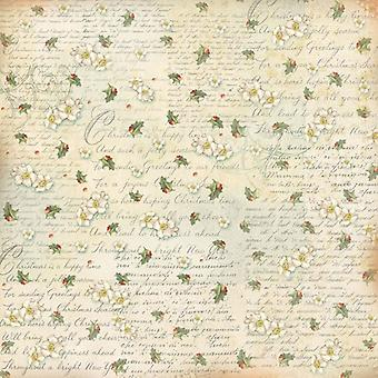 Stamperia Rice Paper Napkin Writing and Butcher's Broom