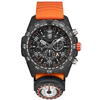 Luminox x Bear Grylls Survival MASTER 3740 Série Quartz Black Dial Rubber Strap Men-apos;s Watch XB.3749