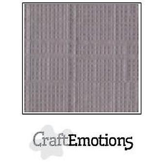 CraftEmotions papelão de linho 100 Sh prata Bulk LHC-73 A4 250gr