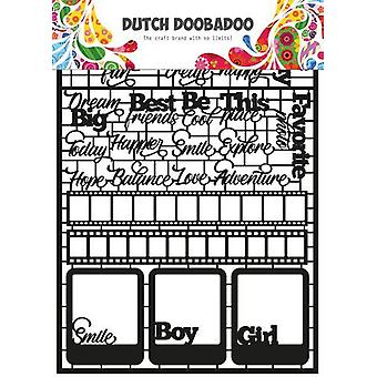 Dutch Doobadoo Dutch Paper Art Text A5 (Eng) 472.950.006