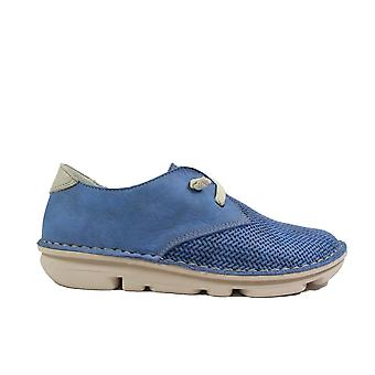 On Foot Blucher 30102 Jeans Blue Nubuck Leather Womens Slip On Shoes