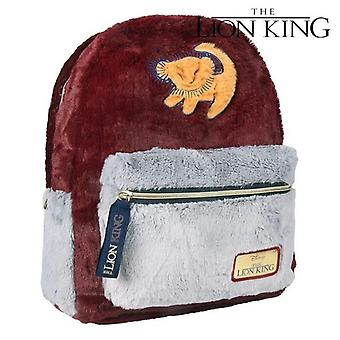 Casual Backpack The Lion King 72785 Bordeaux Grey