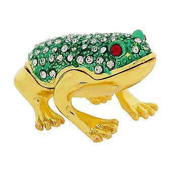 Olivia Collection Strass inmitten Schmuck/Andenken Frosch Marken Box