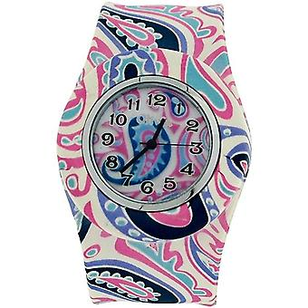 TOC Womens Damen Mädchen Rosa Paisley Design Silikon Slap Watch TOC164