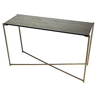 Gillmore antiikkinen lasi suuri konsoli pöytä messinki rajat pohja