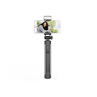 Selfie stick with tripod, LED lamp and remote control