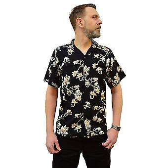 Chet Rock Skulls & Flowers Shirt L