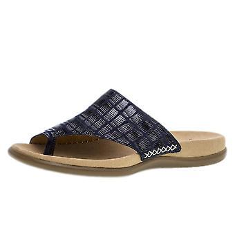 Gabor Lanzarote Comfortable Sandal Mules In Navy