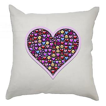 Emoji Cushion Cover 40cm x 40cm Heart 2