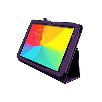 "Magnetic PU Leather Case Cover for LG G Pad V700 10.1""[Purple]"