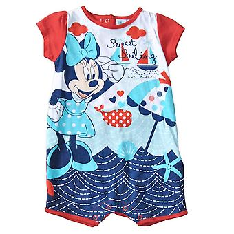Minnie Mouse baby romper, Rød