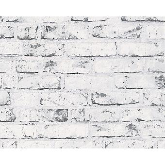 A.S. Creation AS Creation Painted Brick Wall Stone Faux Effect Embossed Mural Wallpaper