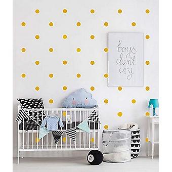 Aufkleber Polka Dots Gold Farbe in Vinyl, L13xP0, 15xA17 cm