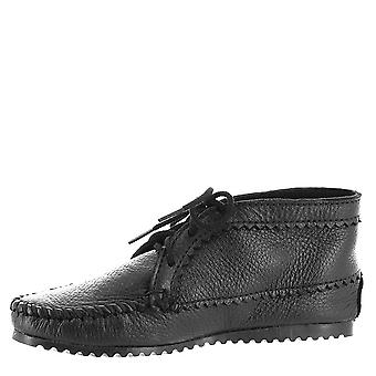 Minnetonka Womens Chiffon Leather Round Toe Ankle Fashion Boots
