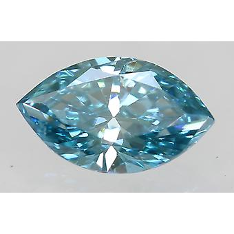 Cert 0.30 Carat Sky Blue VS1 Marquise Enhanced Natural Diamond 6.1x3.66mm 2EX