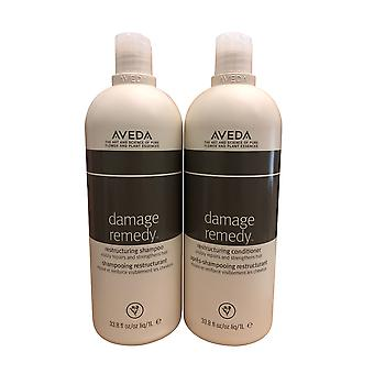 Aveda Damage Remedy Restructuring Shampooing & Conditionneur Ensemble 33.8 OZ Chacun