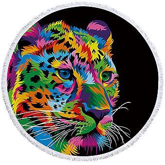 Värikäs Leopard ranta pyyhe