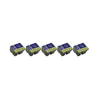 RudyTwos 5x Replacement for Epson BeachHuts T0361 T0370 Set Ink Unit Black & Tri-Colour Compatible with C42, C42 Plus, C42 Pro, C42 S, C42SX, C42UX, C44, C44 Plus, C46