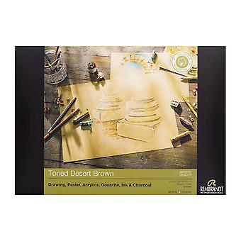 Rembrandt Artist Quality Toned Desert Brown Paper 50 Sheet Block A4