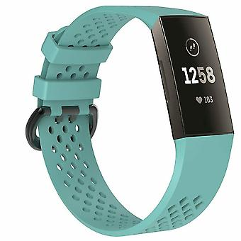 "Replacement Strap Silicone Band Bracelet Wristband for Fitbit Charge 3[Small Fits Wrist 5.5"" - 6.9"",Teal]"