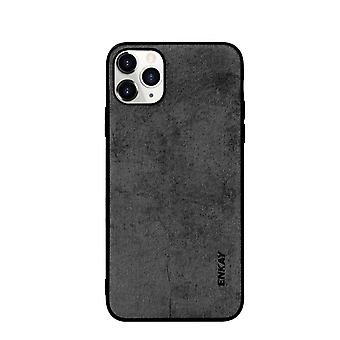 Voor iPhone 11 Pro Max Case Fabric Texture Soft Fashionable Cover Zwart