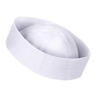 Los hombres traje sombrero de marinero blanco marina Popeye Doughboy Gilligan Marina