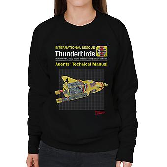 Thunderbirds Ombud Teknisk Manual Thunderbird 4 Kvinnor & apos; s Sweatshirt