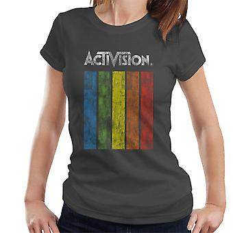 T-shirt Pour femme Activision Distressed Rainbow Fall Logo