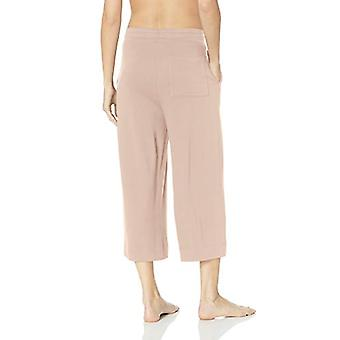 Marque - Mae Women-apos;s Standard Supersoft Français Terry Cropped Lounge Pan...
