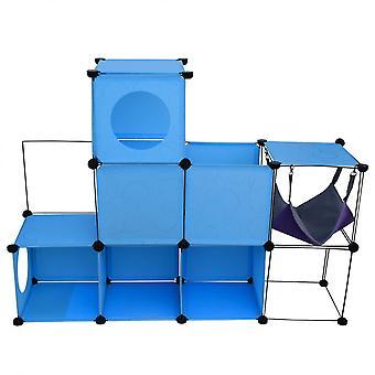 Kuutio peli kissa tunneli kissat sininen muovi metalli Relax Gym 90x120x30