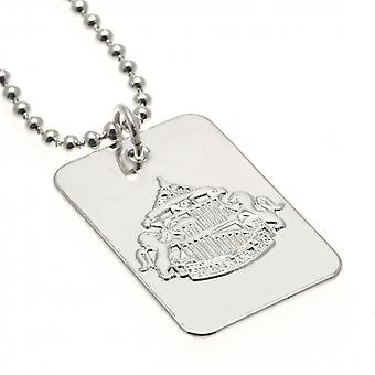 Sunderland AFC Silver Plated Dog Tag And Chain
