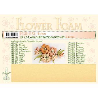 Leane Creatief Flower Foam Sheets A4 Beige