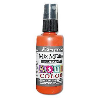 Stamperia Aquacolor Spray 60ml Iridescent Orange