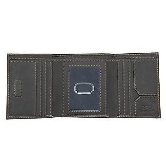 Primehide Mens Leather Wallet RFID Bloqueador Suporte do cartão Notecase Gents 8002