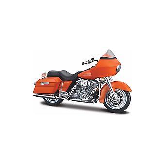 Maisto Harley Davidson 2002 FLTR Road liukua Oranssi moottoripyörä 1:18