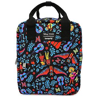 Loungefly X Disney Coco Aop Square Printed Nylon Backpack