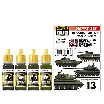 Ammo by Mig Russian Greens 1956 to Present Acrylic Paint Set