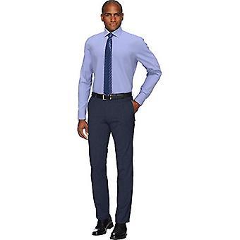 Abotoado men's Slim Fit Spread Collar Solid Non-Iron Dress Shirt (Bolso...