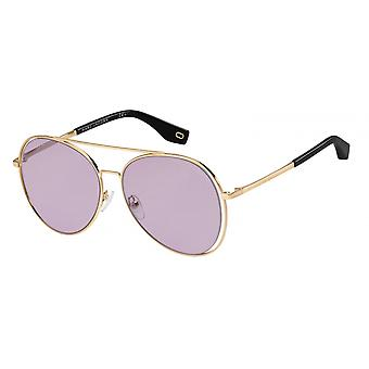 Sunglasses Men's pilot gold/black violet