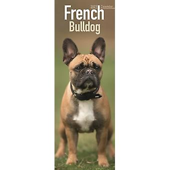 French Bulldog 2021 Slim Calendar by Created by Avonside Publishing Ltd