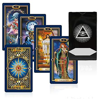 Gilded Tarot Card Game Mysterious Gold Art Divination Fate Tarot Deck For Women Board Game