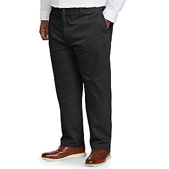Essentials Herre's Big & Tall Avslappet passform Casual Stretch Khaki Bukse passform av DXL, Svart 52W x 30L