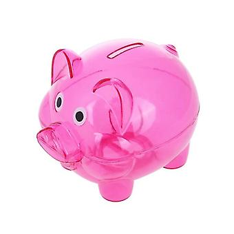 Lovely Plastic Piggy Bank, Pig Cash Coin Money Saving Box Toy