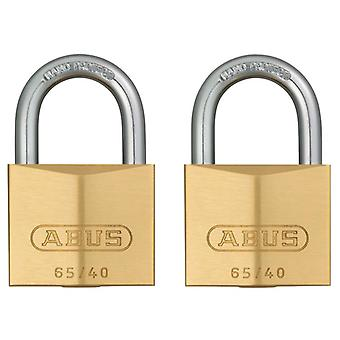 ABUS 65/40mm Brass Padlock Twin Carded ABU6540TC