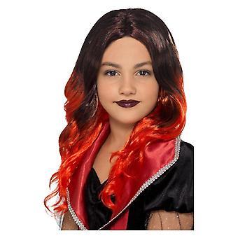 Girls Red Witch Wig Halloween Fancy Dress Acessório