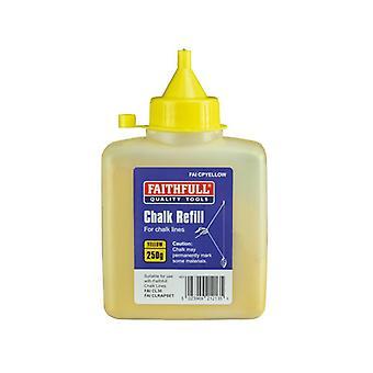 Faithfull Chalk Powder 250g - Yellow FAICPYELLOW