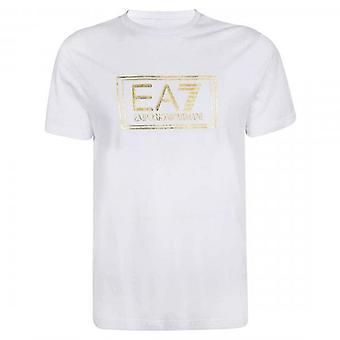 EA7 Emporio Armani Box Folia Logo T-Shirt Biały 6HPT51 PJM9Z