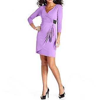 Spense Petite | Three-Quarter-Sleeve Faux-Wrap Jersey Dress