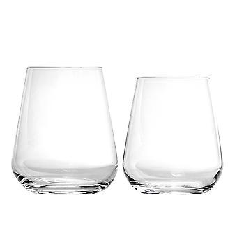 Bormioli Rocco Inalto Uno Water Tumblers and Stemless Wine Glasses - 12pc Set